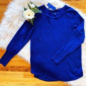 Apt 9 Royal Blue Crew Neck Sweater